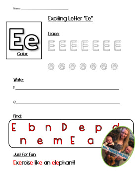 Exciting Letter E