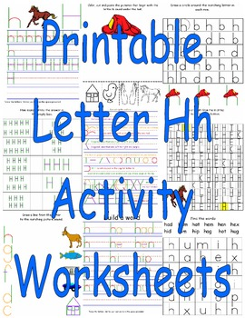 Printable Letter Hh Activity Worksheets