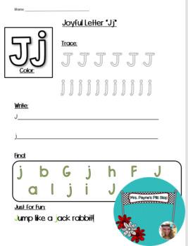Joyful Letter J