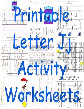 Printable Letter Jj Activity Worksheets