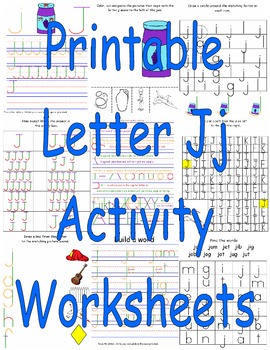Printable Letter Jj Activity Worksheets