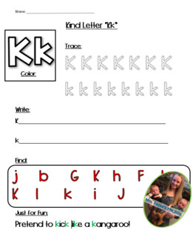 Kind Letter K