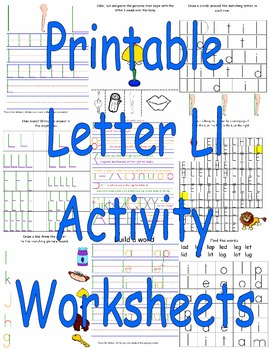 Printable Letter Ll Activity Worksheets