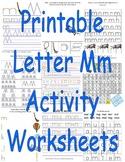 Printable Letter Mm Activity Worksheets