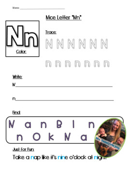 graphic regarding Printable Letter N named Pleasant Letter N