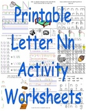 Printable Letter Nn Activity Worksheets