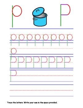 Printable Letter Pp Activity Worksheets