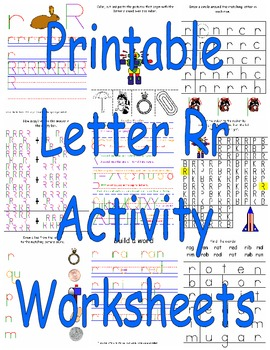 Printable Letter Rr Activity Worksheets