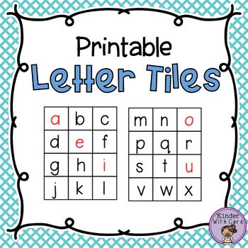 Printable Letter Tiles - Class and Individual Sets