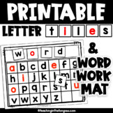 Printable Letter Tiles Word Building Mat with EDITABLE Letters