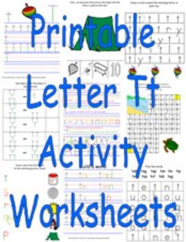 Printable Letter Tt Activity Worksheets