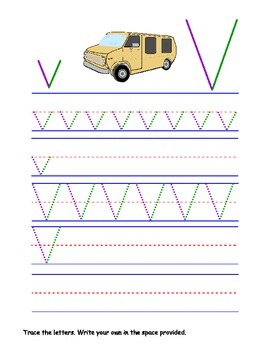 Printable Letter Vv Activity Worksheets