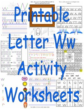Printable Letter Ww Activity Worksheets