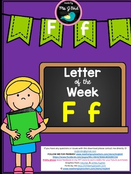 Printable Letter of the Week F