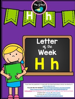 Printable Letter of the Week H FREE