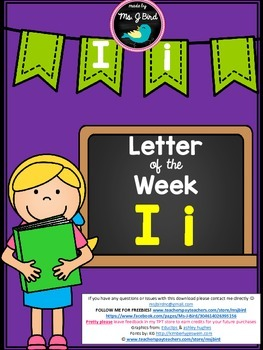 Printable Letter of the Week I FREE