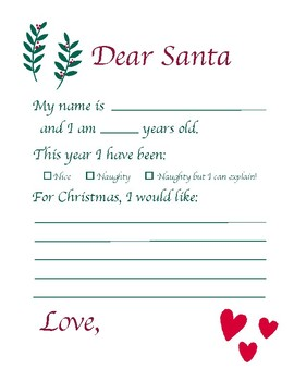 picture regarding Printable Letter Explaining Santa identify Printable Letter in direction of Santa through anne dalton Instructors Shell out Instructors