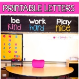 Printable Letters for Large Wall Display