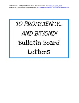 Printable Letters for To Proficiency... And Beyond! Bullet