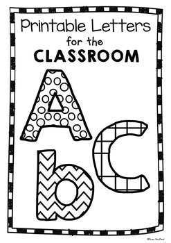 Printable Letters for the Classroom