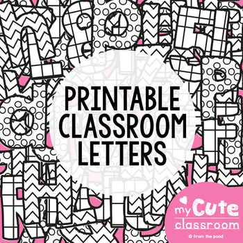 printable letters for the classroom bulletin boards decor