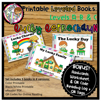 Printable Leveled Books for Beginning Readers - St. Patrick's Day Levels A, B, C