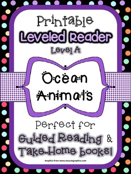 Printable Leveled Reader - Ocean Animals - Level A