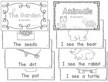 Printable Emergent Readers -  6 Books - (Levels A - C)
