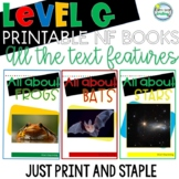 Printable Leveled Reading Books Nonfiction Level G Tons of Text Features
