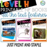 Printable Leveled Reading Books Nonfiction Level H Tons of Text Features