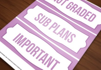 Printable Lilac Bin Labels (Editable!)