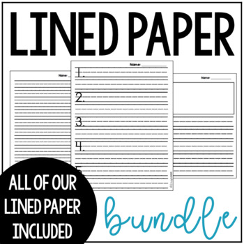 Printable Lined Paper and Graphic Organizers