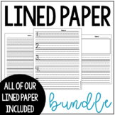 Lined Paper BUNDLE