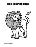 Printable Lion Coloring Page Worksheet