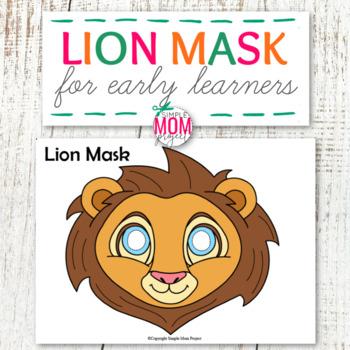 Printable Lion Mask Activity for Kids