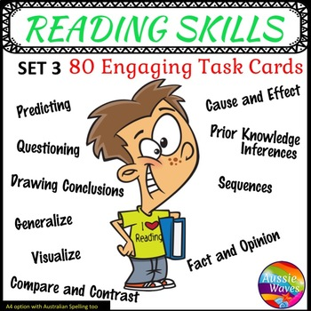 Literacy Centre Activities Task Cards Reading Comprehension Skills SET 3
