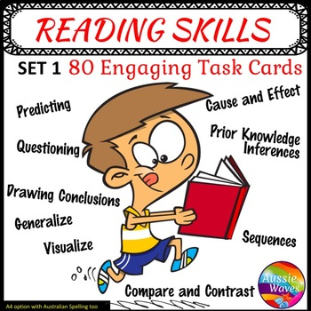 Literacy Centre Activities Task Cards for Reading Comprehension Skills