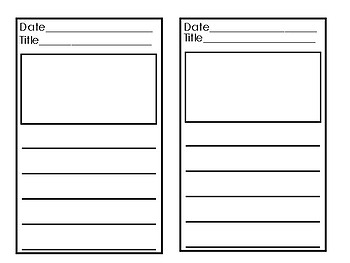 Printable Literature Response Journal- Use for ANY grade!