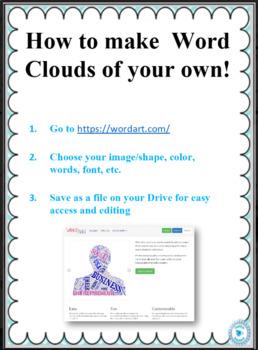Printable Literature Word Cloud Bundle