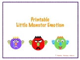 Printable Little Monster Emotion