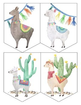 picture regarding Llama Printable identified as Printable Llama Bunting Banner