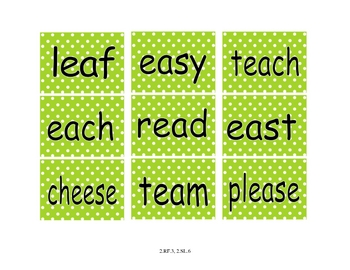 Printable Long e Word Sort Literacy Center With Recording Sheets