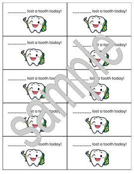Printable Lost Tooth messages - 2 sizes