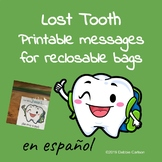 Printable Lost Tooth notes in Spanish - 2 sizes