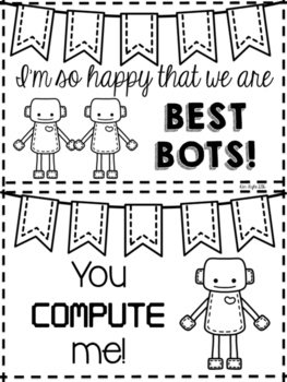 Printable Love Bot Valentines {robot valentines for your students!}