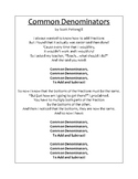 "Printable Lyrics for ""Common Denominators"" Original Song"