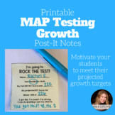 Printable MAP Testing Growth Post-It Notes