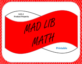 Printable Mad Lib Math Activity-Product Property of Exponents (8EE1)