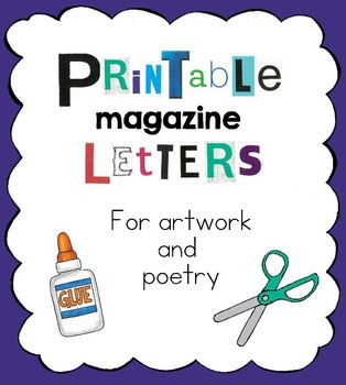 Printable Magazine Cut-Out Letters and Numbers