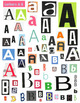 BIG Package of Printable Magazine Cut-Out Words, Letters a